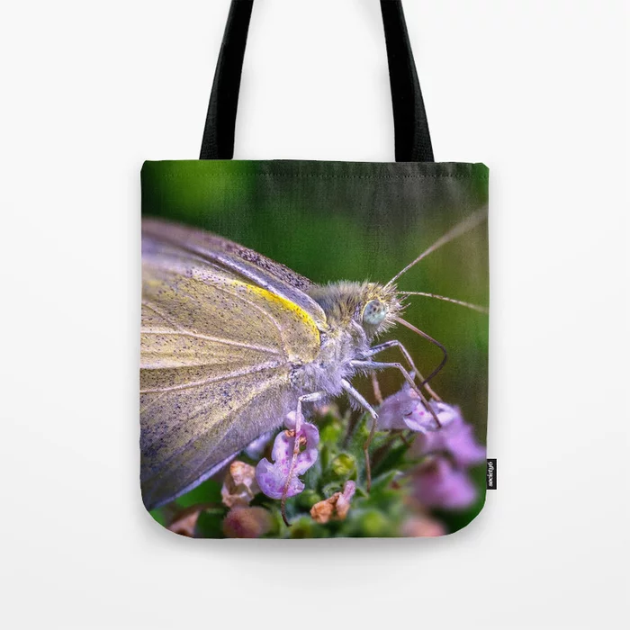 Cabbage White Butterfly, Tote Bag. On Society6