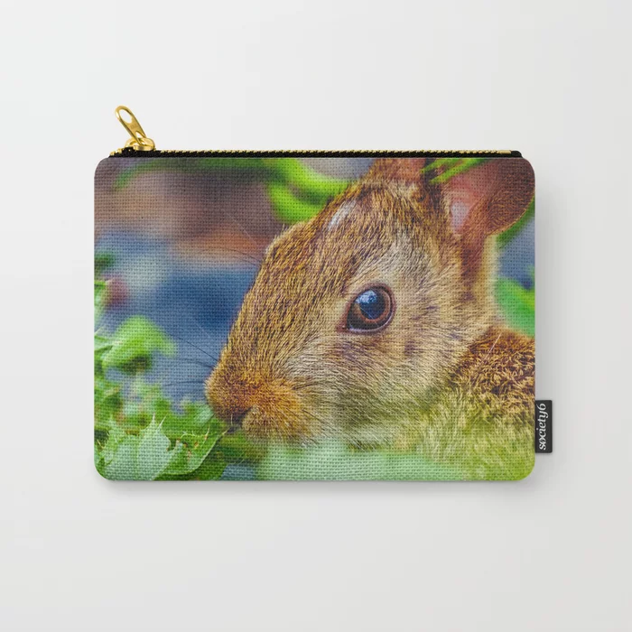 Hungry Garden Bunny Carry-All Pouch. On Society6