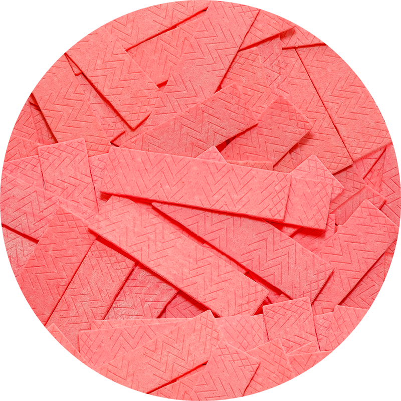 Pink Bubblegum Strips Real Candy Pattern. By Patterns Soup