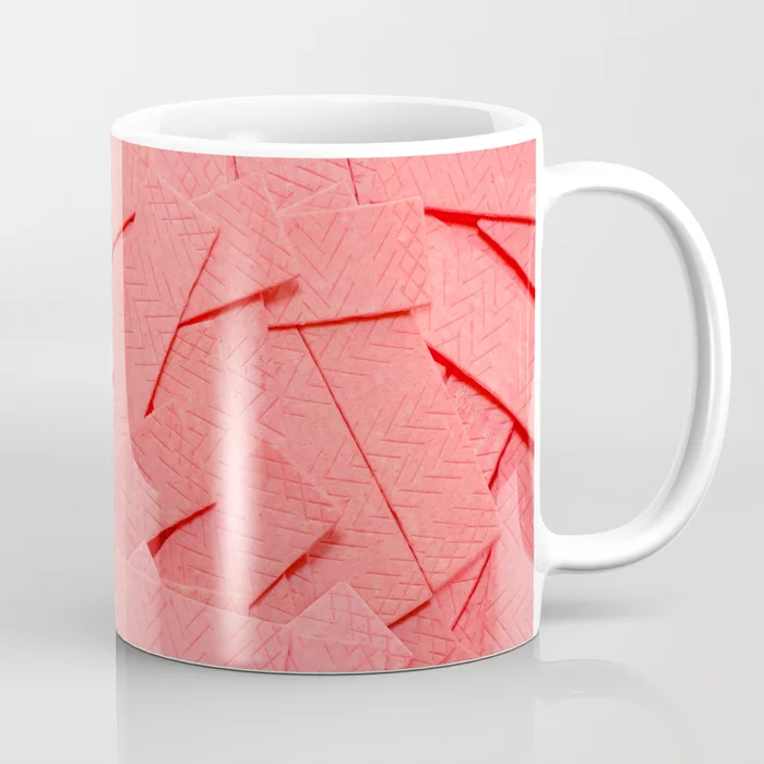Pink Bubblegum Strips Real Candy Pattern Mug. By Patterns Soup