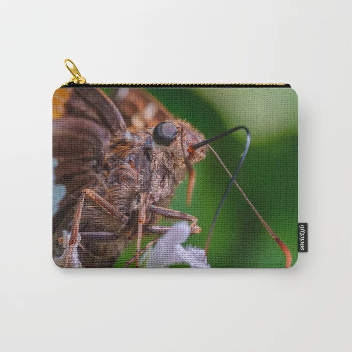 Happy Silver Spotted Skipper Butterfly. Macro Butterfly Photograph Carry-All Pouch On Society6