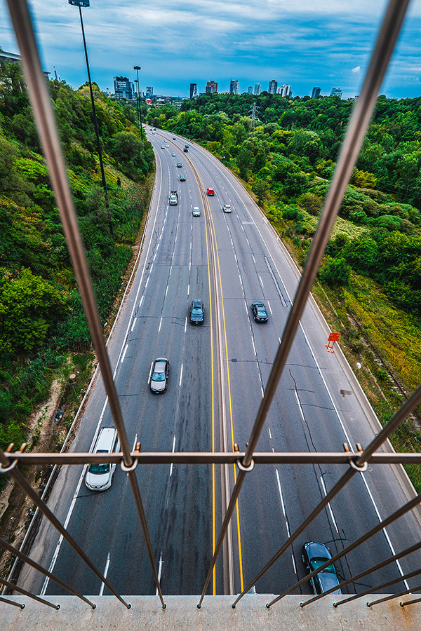Don Valley Parkway, on a Cloudy Day By Stephen Geisel, Love-fi