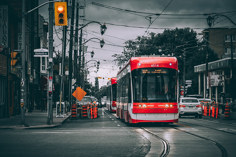 Storms & Streetcars at Danforth & Broadview. By Stephen Geisel, Love-fi