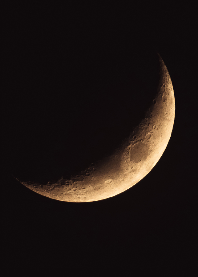 Crescent Moon Photograph. By Stephen Geisel, Love-fi